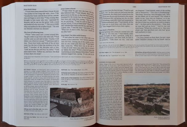 ESV Archaeology Study Bible vs  NIV Archaeological Study Bible