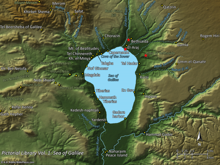 Map of Bethsaida Sites